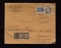 REGISTERED MAIL AUSTRIA 1933 PHILATELY COVER to USA