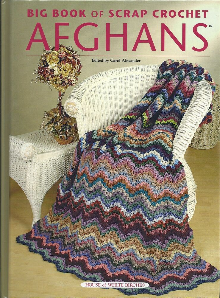 Book Cover Crochet Uk : Designs big book of scrap crochet afghans patterns