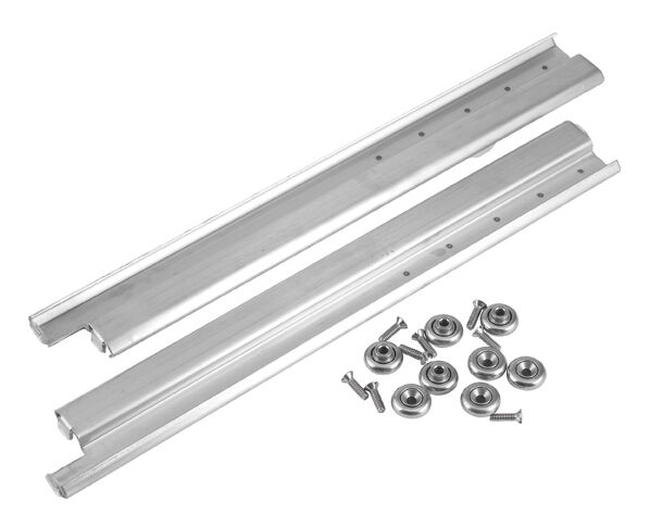 kitchen cabinet drawer rollers drawer slide glides pair w rollers 20 quot s s new 36370 ebay 5387