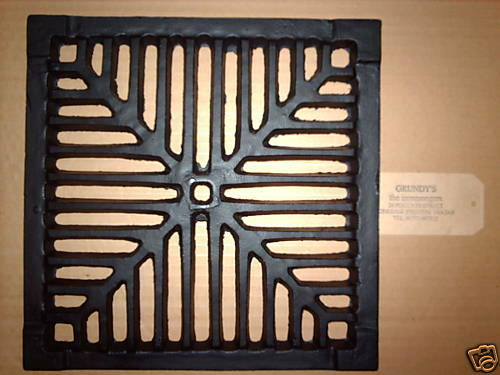12 Quot Square Cast Iron Gully Grid Driveway Drain Cover Ebay