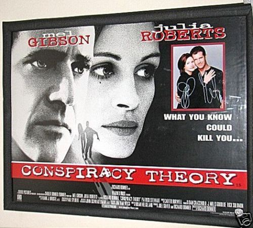 Conspiracy Theory AUTOGRAPHED POSTER Gibson & Roberts | eBay