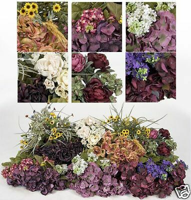 fake wedding flowers in bulk bulk artificial silk flowers hydrangea lilac ebay 4002
