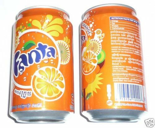 fanta can cambodia 330ml orange coca cola 2009 design asia collect rare ebay. Black Bedroom Furniture Sets. Home Design Ideas