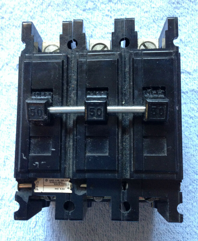 single phase 240v breaker wiring diagram westinghouse qc3050h 50amp 3 pole 240v circuit breaker | ebay wiring 240v breaker