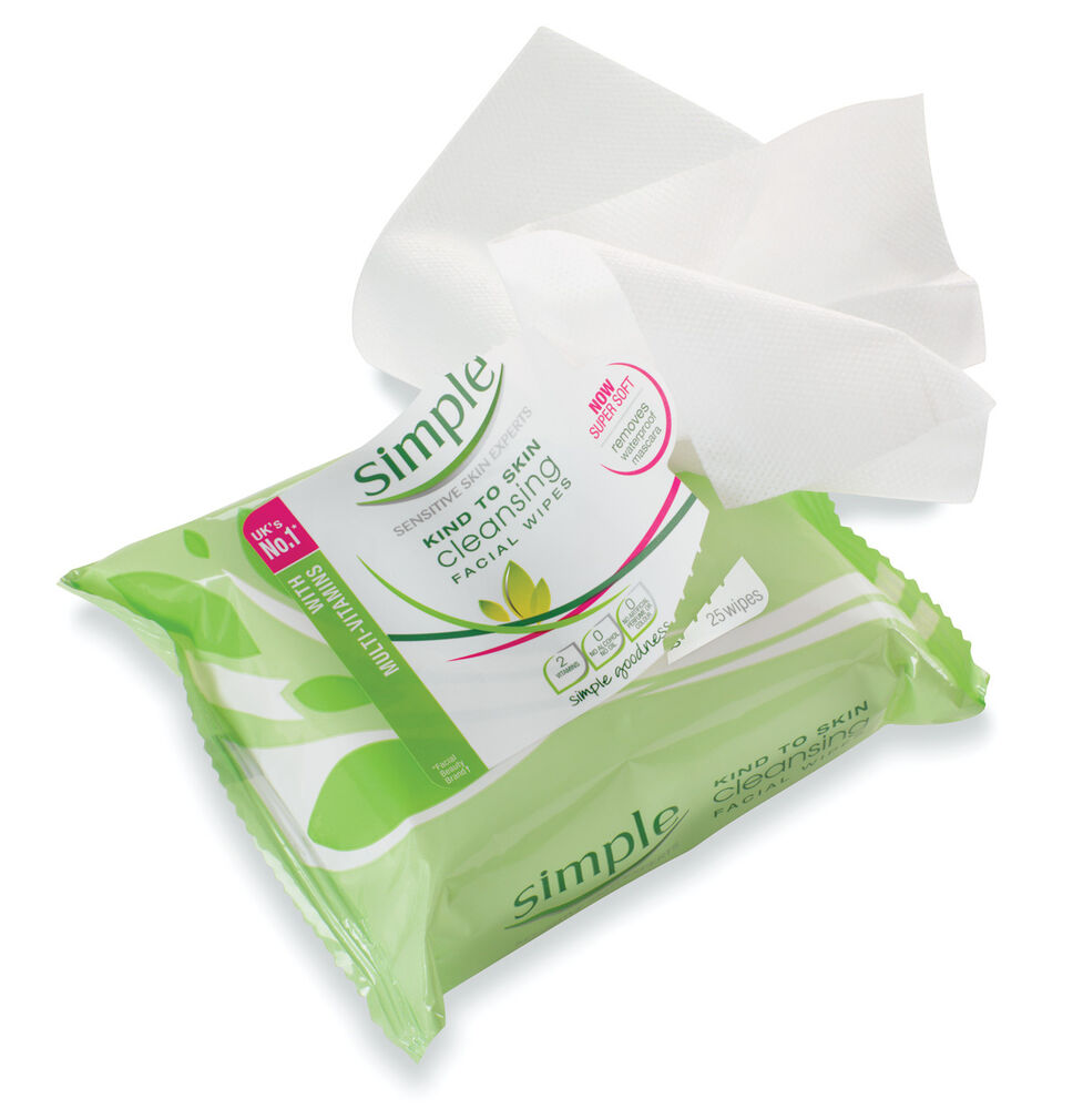 Simple cleansing facial wipes ebay