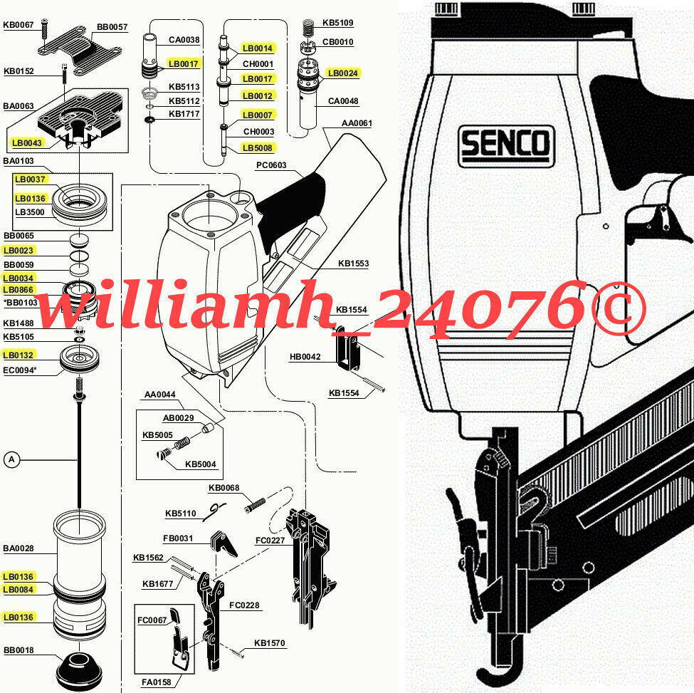 Senco Framing Nailer Sn70 O Ring Kit Ebay