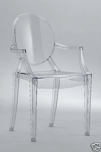 philipe starck louis ghost clear arm side dining chair ebay. Black Bedroom Furniture Sets. Home Design Ideas