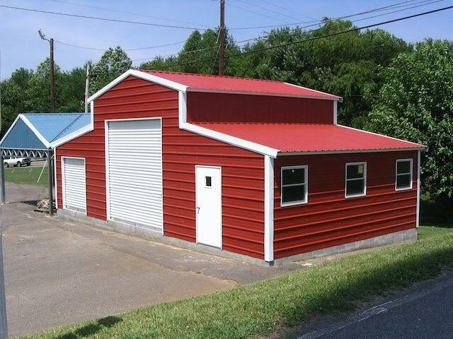 Pre fab barns steel buildings carports garages rv ports for Motorhome storage building