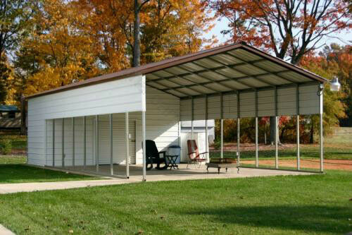 Rv Carports Metal Building Kits : Pre fab barns steel buildings carports garages rv ports
