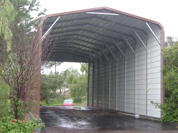 Pre fab barns steel buildings carports garages rv ports for Carports and garages