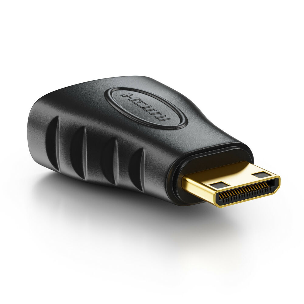 hdmi adapter hdmi buchse auf minihdmi stecker vergoldet ebay. Black Bedroom Furniture Sets. Home Design Ideas
