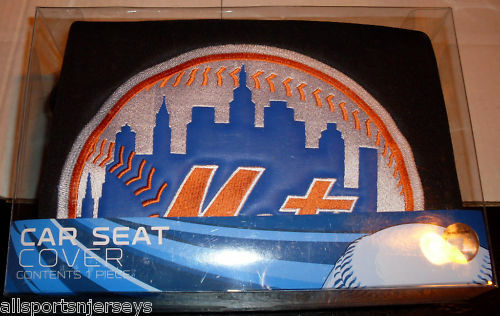 mlb nib car seat cover by northwest new york mets ebay. Black Bedroom Furniture Sets. Home Design Ideas