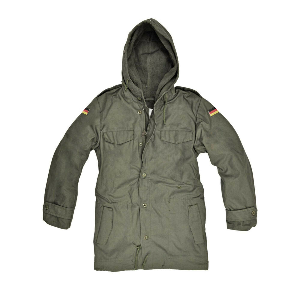 BRAND NEW GERMAN ARMY NATO PARKA WITH HOOD - OLIVE GREEN | eBay
