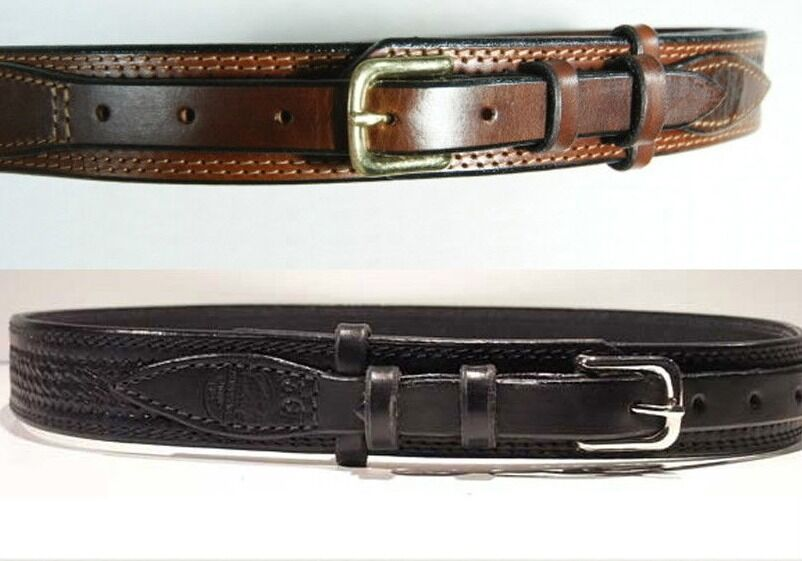 big s brown black leather embossed ranger belt 625r ebay