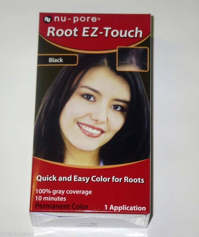 Nu Pore Quick Easy Color For Roots In 10 Mins Black Ebay