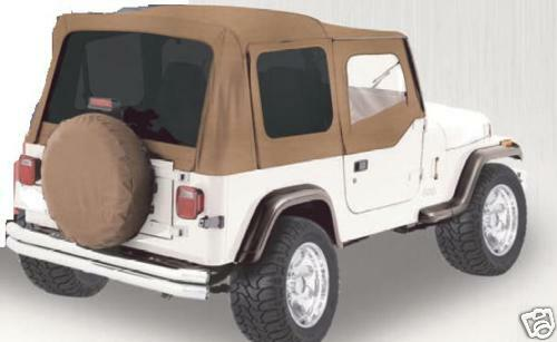 88 95 Jeep Wrangler Soft Top Canvas 3 Tinted Window Ebay