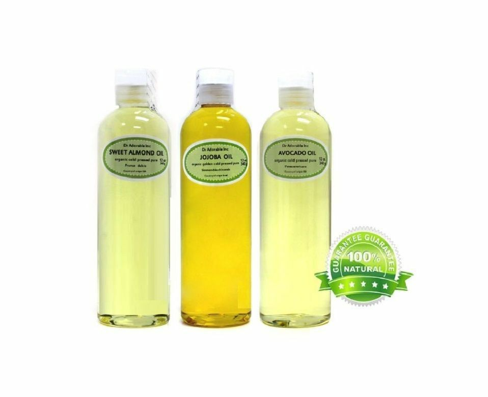 36 Oz Organic Pure Jojoba Sweet Almond Oil Avocado Oil Ebay