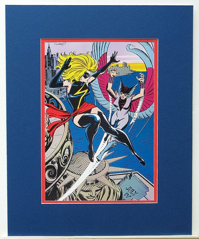 Vintage 1978 MS MARVEL Pin up Poster Marvel FRAME READY | eBay