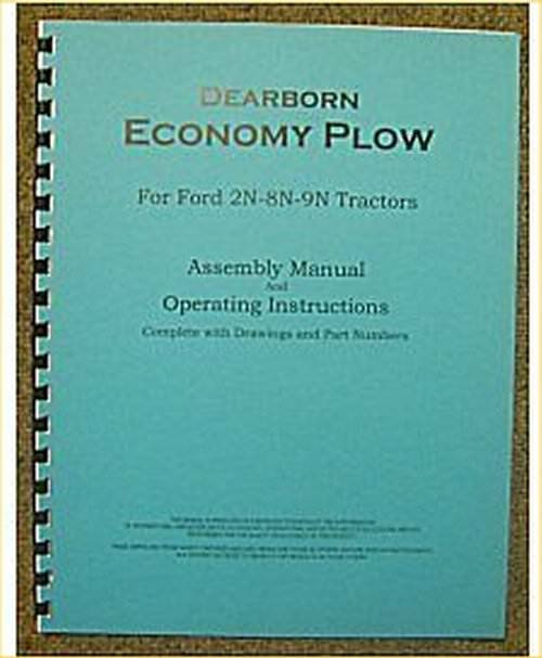 ford dearborn economy plow assembly operators manual ebay