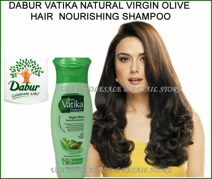 200ml 7oz Dabur Vatika Virgin Olive Nourishing Shampoo