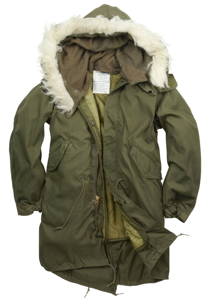 NEW ORIGINAL US M65 FISHTAIL PARKA LINED HOODED XS, S, M, L | eBay