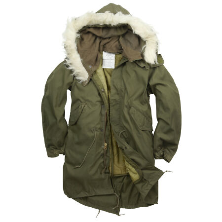 img-Fishtail Parka Army Genuine US M65 Original Winter Lined Hooded Long Coat Olive