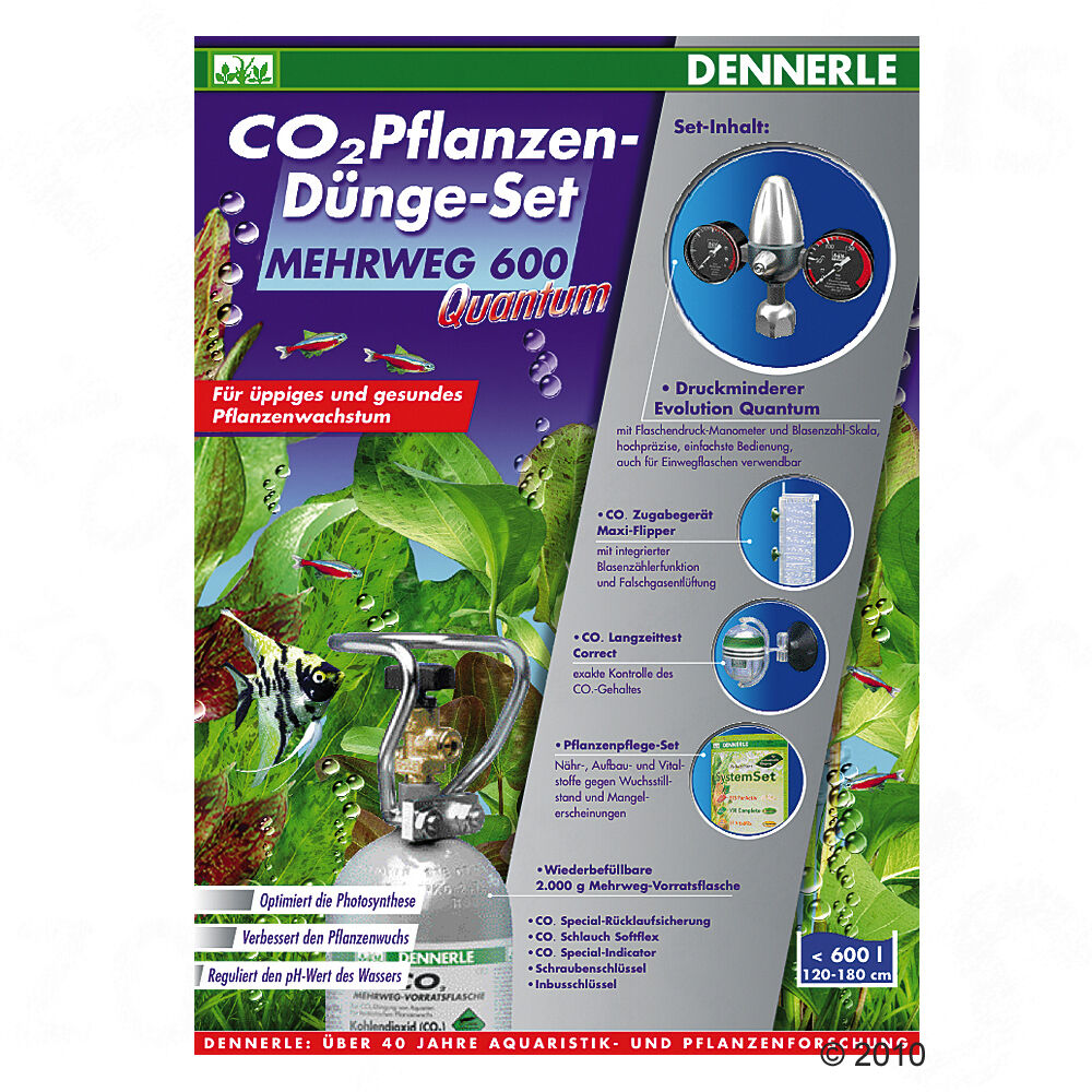 dennerle co2 anlage quantum 600 mit 2000 g co2 flasche f r aquarium d ngeanlage ebay. Black Bedroom Furniture Sets. Home Design Ideas