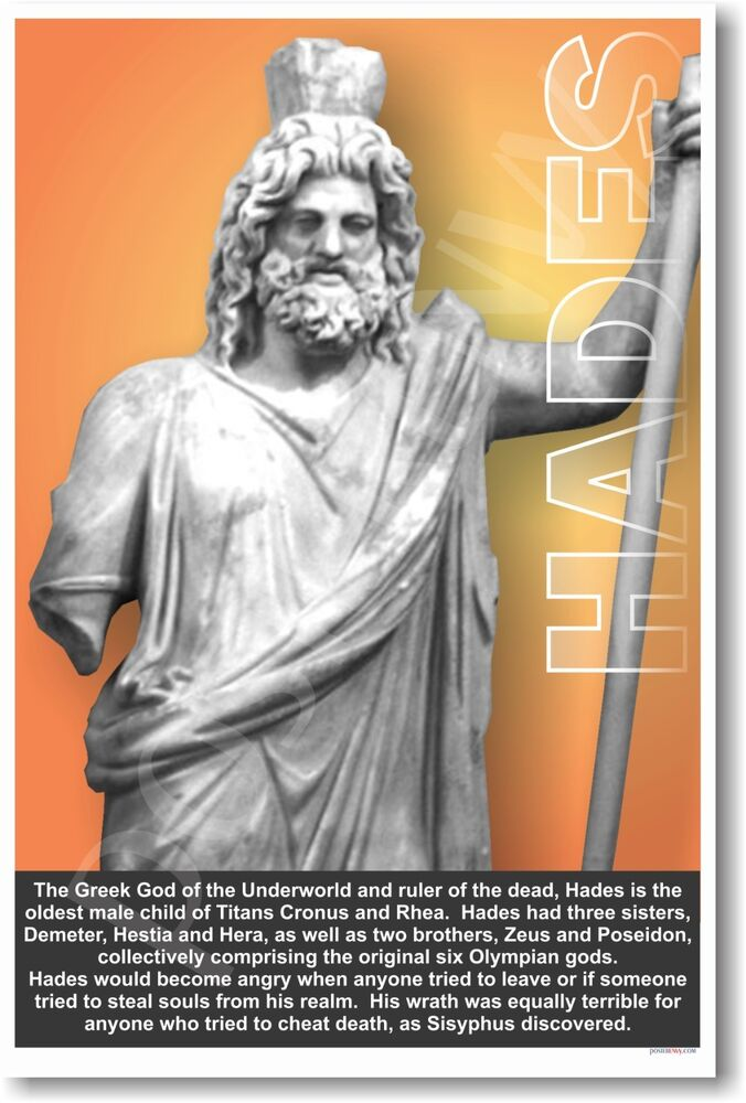 Ancient Greece - God of the Underworld Hades - POSTER | eBay