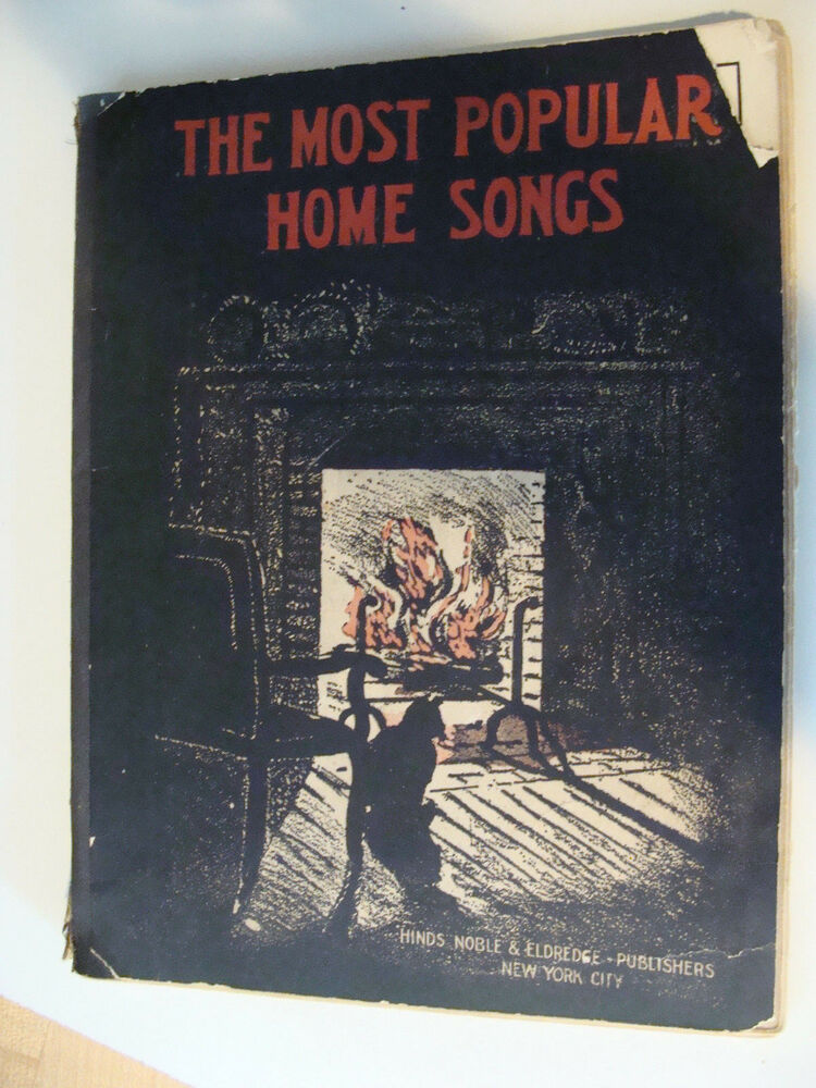 1913 the most popular home songs vintage book ebay