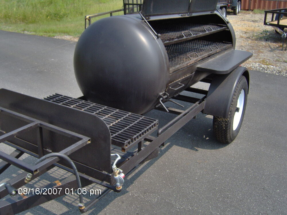 bbq hog pit smoker competition 10ft trailer concession grill w gas burners new ebay. Black Bedroom Furniture Sets. Home Design Ideas