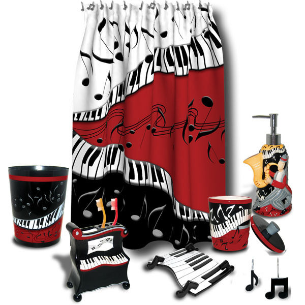 Jazzy Bathroom Collection Piano Keys Amp Music Notes Ebay