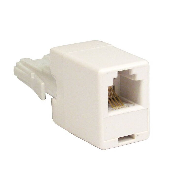 Bt plug to rj11 socket cable adaptor crossed ebay - Cable adsl rj11 ...