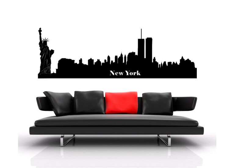 wandtattoo city stadt skyline wandfolie wst06 new york ebay. Black Bedroom Furniture Sets. Home Design Ideas