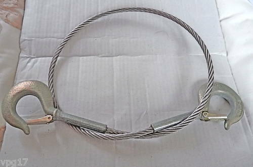 Stainless steel mm wire rope with quick release hooks ebay