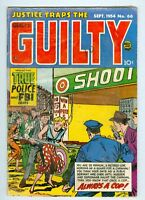 Justice Traps the Guilty #66 VG- September 1954