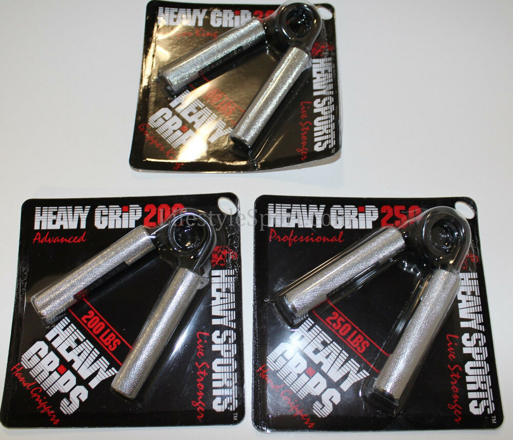 heavy grips hand grippers metal set 3 pack 200 300lbs ebay. Black Bedroom Furniture Sets. Home Design Ideas