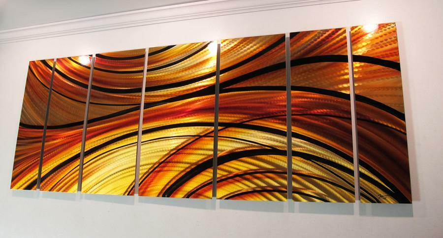 Modern Abstract Metal Wall Art Painting Sculpture Decor EBay