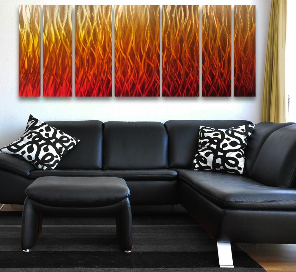 Modern Abstract Metal Wall Art Painting Sculpture Home ...