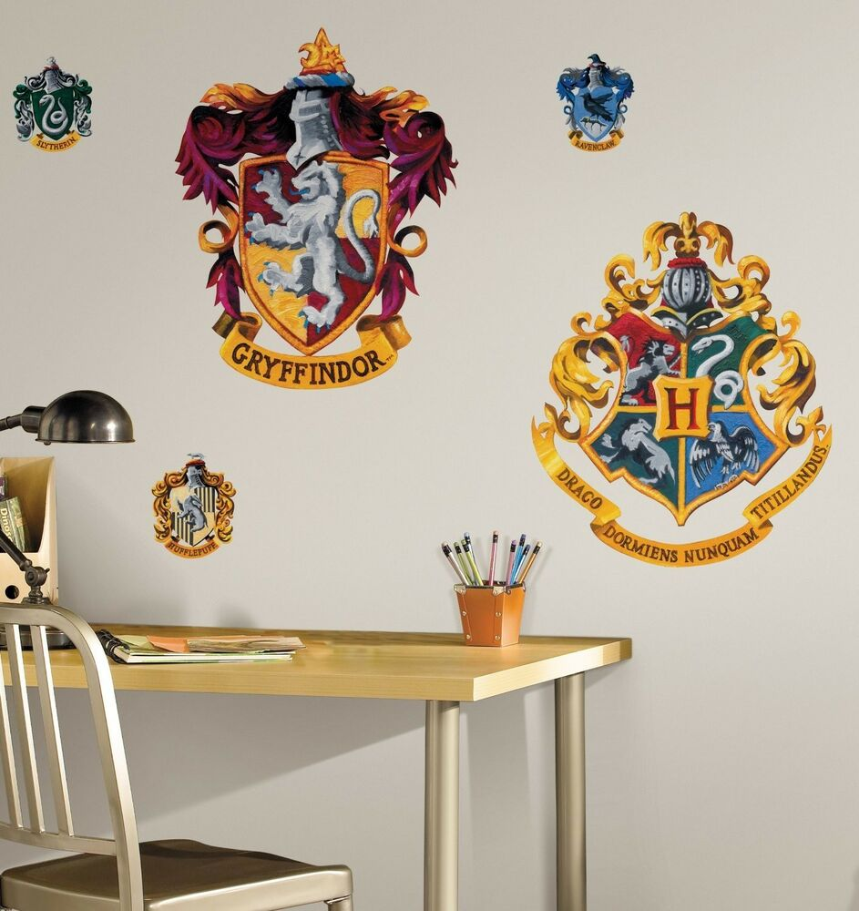 HOGWARTS CREST Wall Mural Stickers Harry Potter Room Decor ...