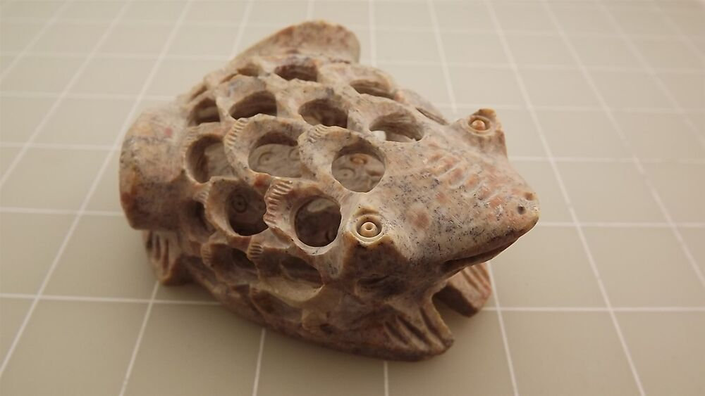 Genuine natural stone hand carved frog carving ebay