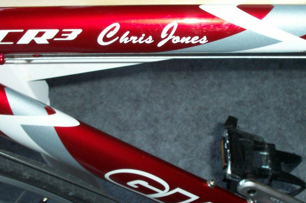 Personalized Bike Decals Mountain Road Ironman Decal Ebay