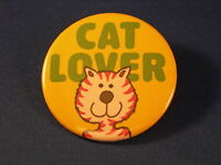 CAT LOVER Lot of 5 BUTTONS  pins pinbacks animal badges
