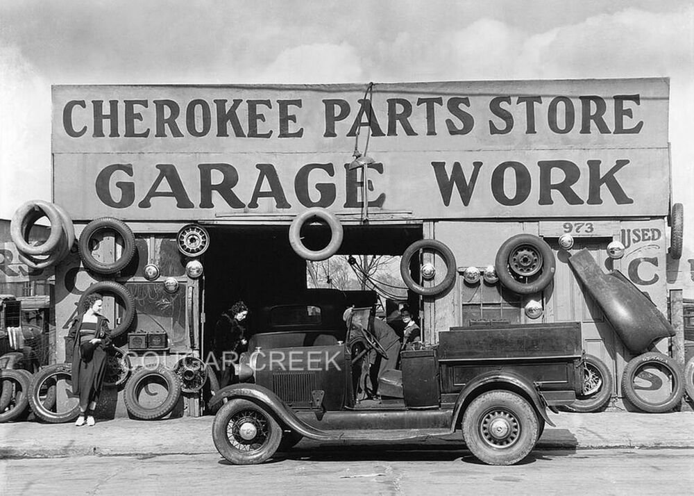 8x10 cherokee car parts garage 1936 atlanta ga photo ebay for Garage auto discount montpellier