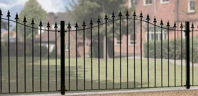 Wrought Iron Metal Arched Fencing Panel Roman 6ft Ebay