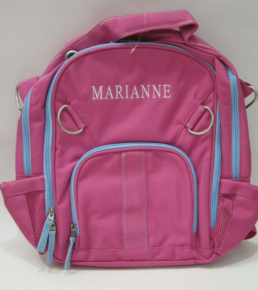 Pottery Barn Kids Fairfax Bright Pink Small Backpack Pink