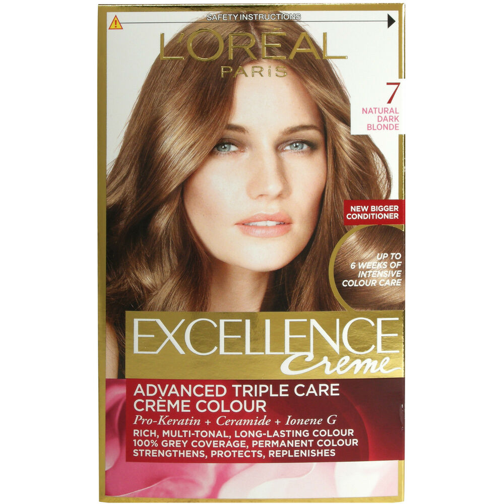loreal paris excellence creme 7 natural dark blonde hair colour - Coloration Excellence