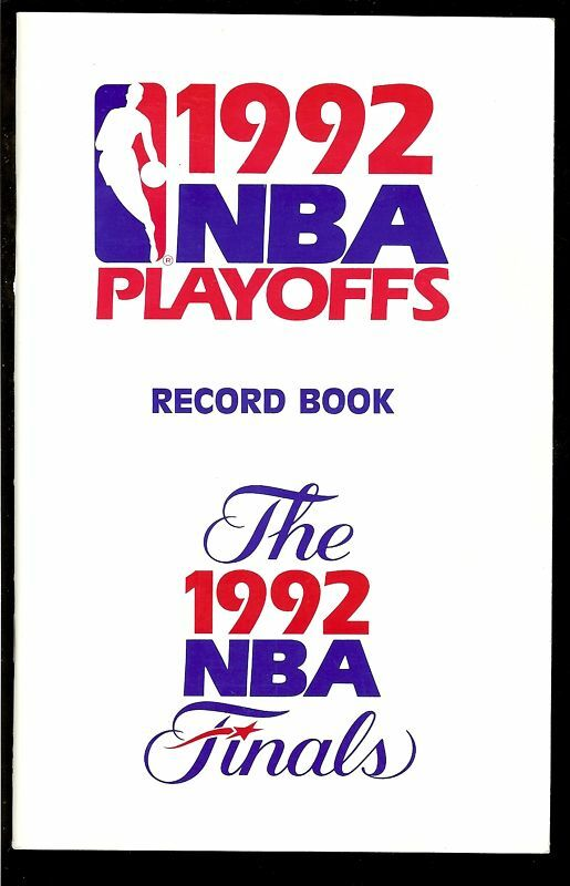 1992 NBA PLAYOFFS RECORD BOOK NBA FINALS M177 | eBay