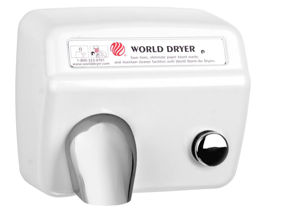 World Dxa5 110 120v Hand Dryer With Stamped Steel