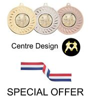 SPECIAL OFFER 10 x Karate 45mm Metal Medals & Ribbon