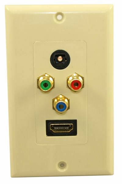 Hdmi Component 3rca Toslink Optical Audio Wall Plate Ebay